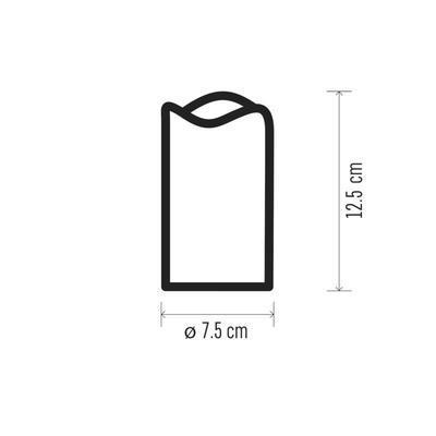 Dekorativní LED svíčka ve skle 12,5cm - bílá - 3