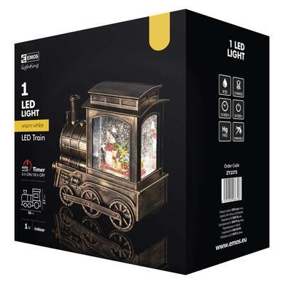 Vánoční LED mašinka, 17x16cm, 3x AA, časovač - 4