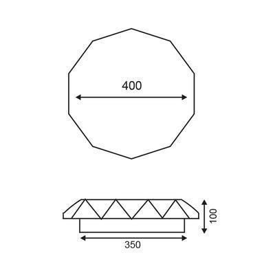 Stropní LED svítidlo Diamond - 4