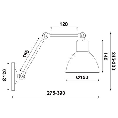 Nástěnné svítidlo Arm - 1 - 4