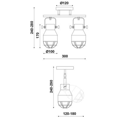 Stropní/Nástěnné svítidlo Headlight 2 - 4