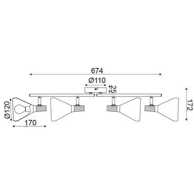 Stropní svítidlo Bell - 4 - 4