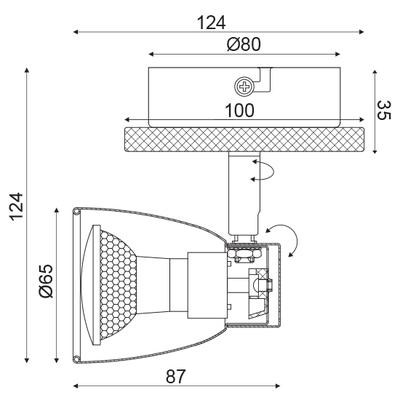 Stropní/Nástěnné svítidlo Chipboard 1 - 4