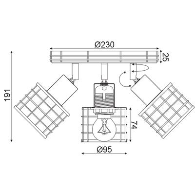 Stropní svítidlo Fence - 2 - 4