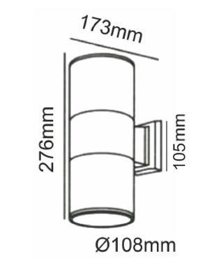 Fasádní svítidlo 2 Beams - L - 4