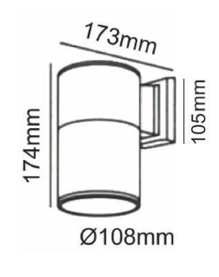 Fasádní svítidlo 1 Beam - L - 4