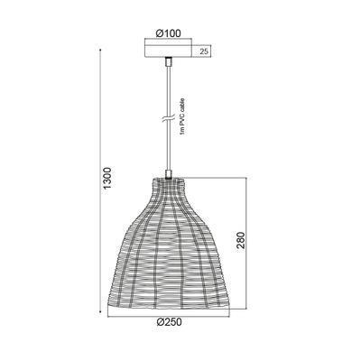 Závěsné svítidlo Basket - 4