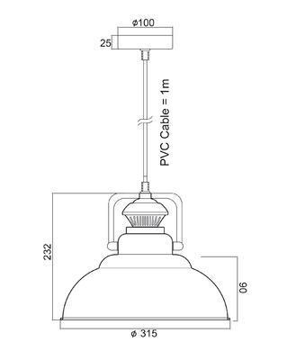 Závěsné svítidlo Factory - 3 - 4