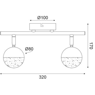 LED svítidlo Half Ball 2 - 4
