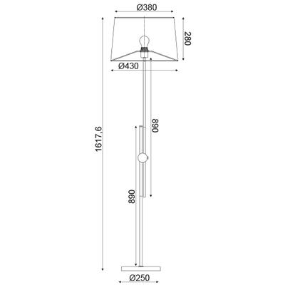 Stojací lampa Buckle - 4