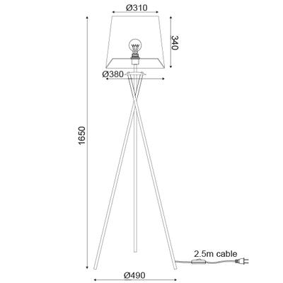 Stojací lampa Veneer - 4