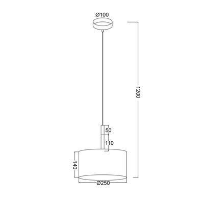 Závěsné svítidlo Timber - S - 4