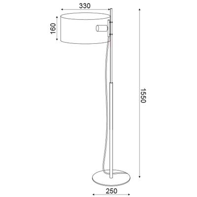 Stojací lampa Hoop - 4