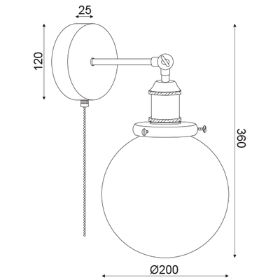 Nástěnné svítidlo Pull - 4