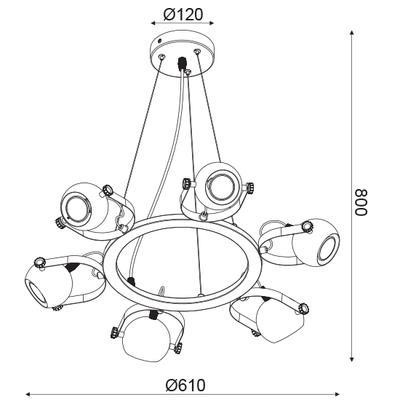 Závěsné svítidlo HAL - 2 - 4