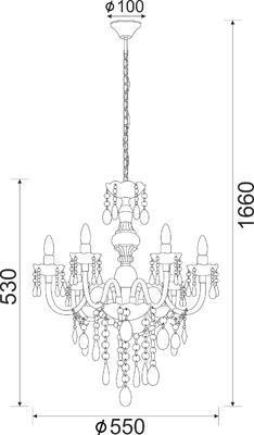 Závěsný lustr Cliche - 4