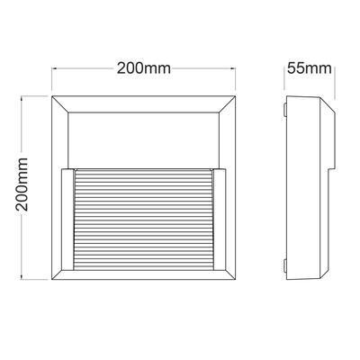 Fasádní LED svítidlo Emboss - Square - 4