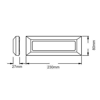 Fasádní LED svítidlo Line - 4