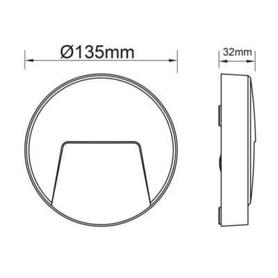 Fasádní LED svítidlo Pocket - Round - 4