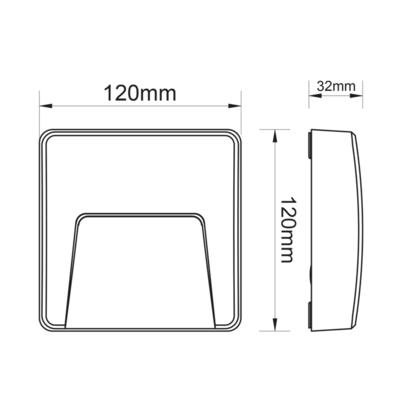 Fasádní LED svítidlo Pocket - Square - 4