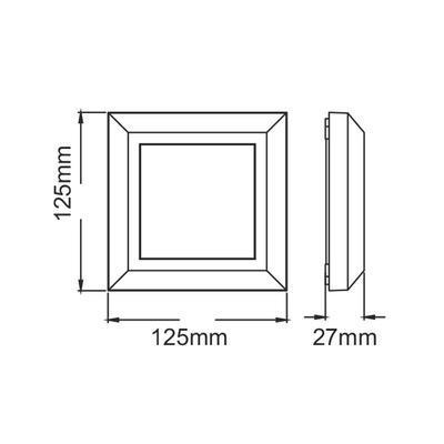 Fasádní LED svítidlo Square - 4
