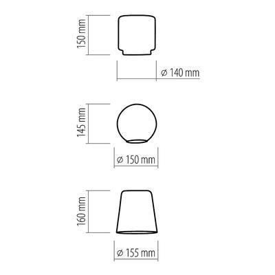 Závěsné svítidlo PEDRO GLASS - 2 - 4