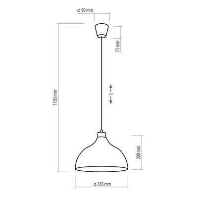 Závěsné svítidlo CAP, černá - 4