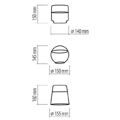 Závěsné svítidlo AMBER - 2 - 4
