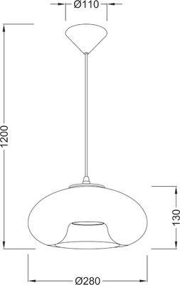 Závěsné svítidlo Glassy - 1 - 4