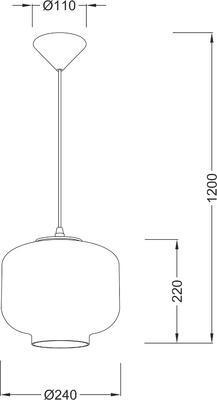 Závěsné svítidlo Glassy - 5, čiré sklo - 4