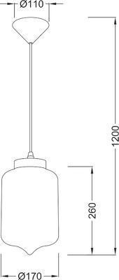 Závěsné svítidlo Glassy - 3 - 4