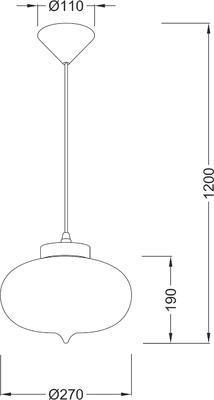 Závěsné svítidlo Glassy - 4 - 4