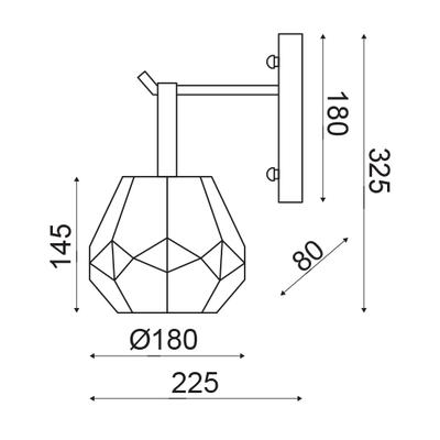 Nástěnné svítidlo Diamond - 4