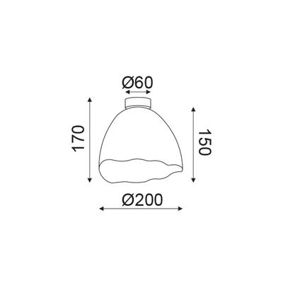 Stropní/Nástěnné svítidlo Shell - 4