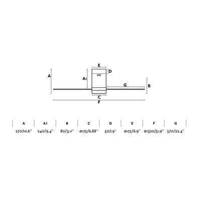 """Stropní ventilátor TIMOR - 52"""" - reverzní - 4"""