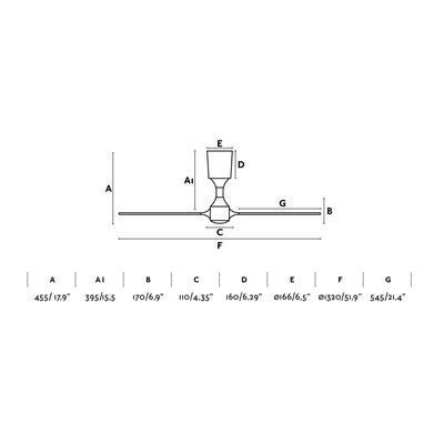 """Stropní ventilátor ITACA - 52"""" - reverzní - 4"""