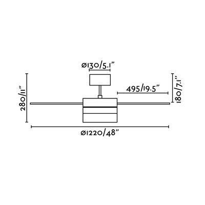 """Stropní ventilátor PANAY - 48"""" - 4"""