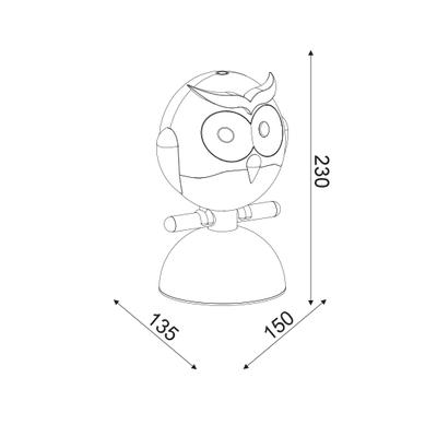 Dětská stolní lampička Owl 1 - 4