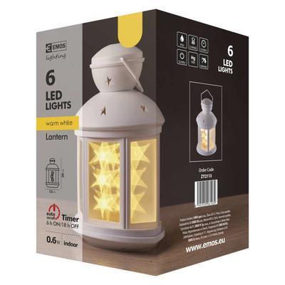 Vánoční dekorativní LED lucerna s časovačem - 3 - 4