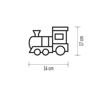 Vánoční LED mašinka, 17x16cm, 3x AA, časovač - 5
