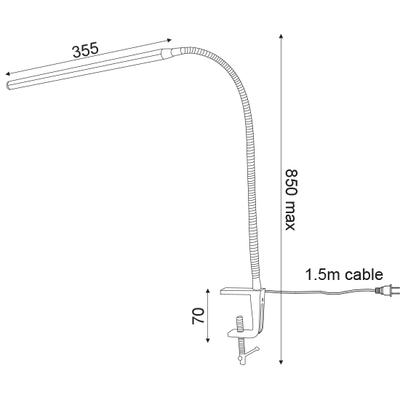 Stolní LED lampa Clip 1 - 5