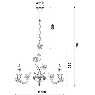 Závěsný lustr Ivy - 1 - 5