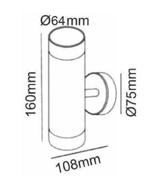 Fasádní svítidlo 2 Beams - S - 5