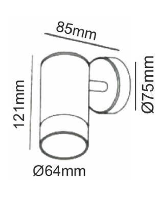Fasádní svítidlo 1 Beam - S - 5