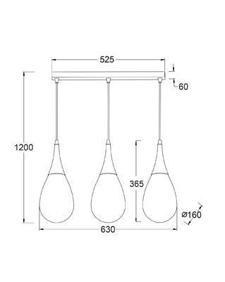 Závěsné svítidlo Drop - 3 - 5