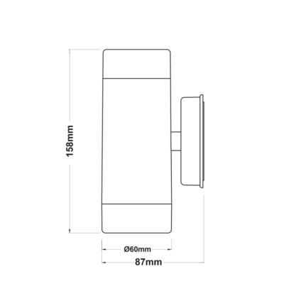 Fasádní svítidlo Tube - 2 - 5