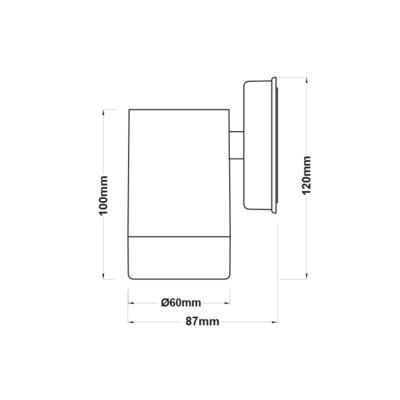 Fasádní svítidlo Tube - 1 - 5