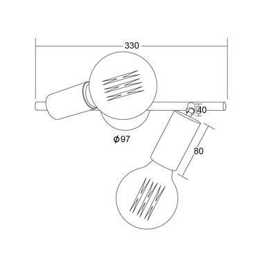 Nástěnné svítidlo Socket - 2 - 5
