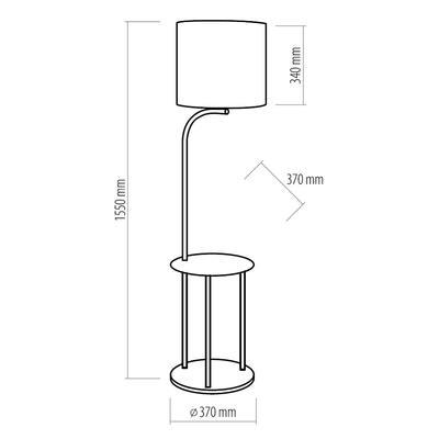Stojací lampa Cleo, šedá - 5