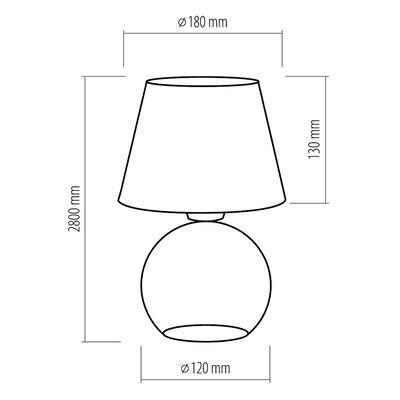 Stolní lampa PICO, černá, černá - 5